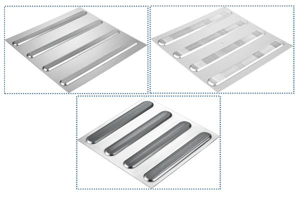 Directional Stainless Steel Tactile Mat (XC-MDB6011D)